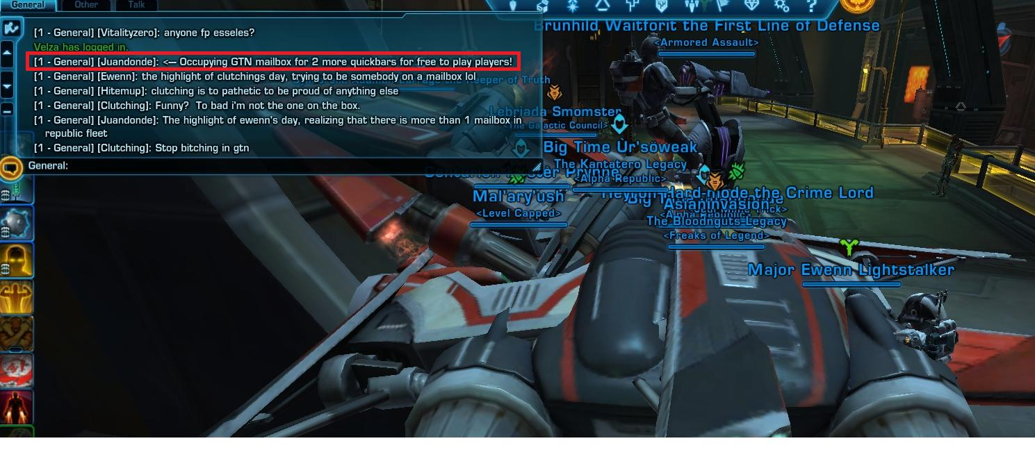 Occupy SWTOR- Angry F2P Gamers Protest F2P Limitations
