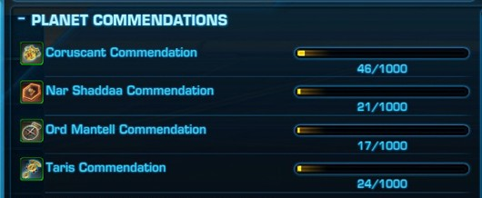 swtor Commendations
