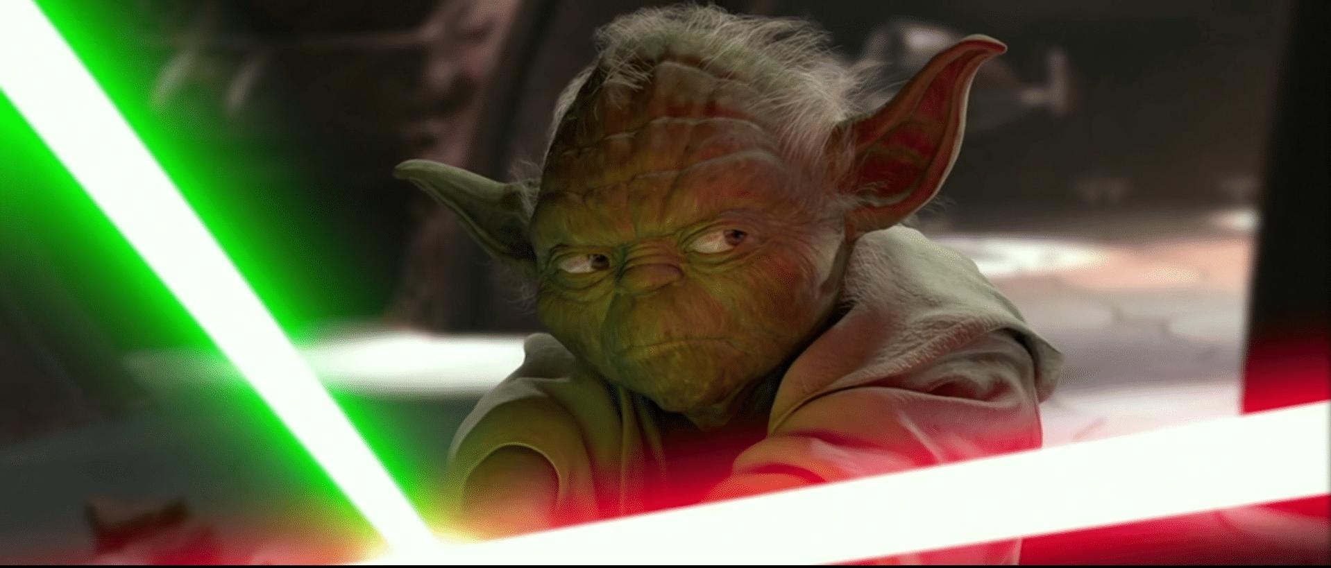 Yoda fights 2
