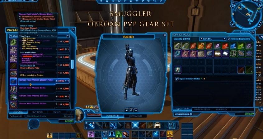 smugglers obroan pvp gear set