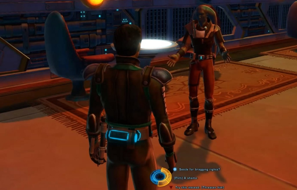 swtor Bounty Hunt Event with Same Sex Flirting