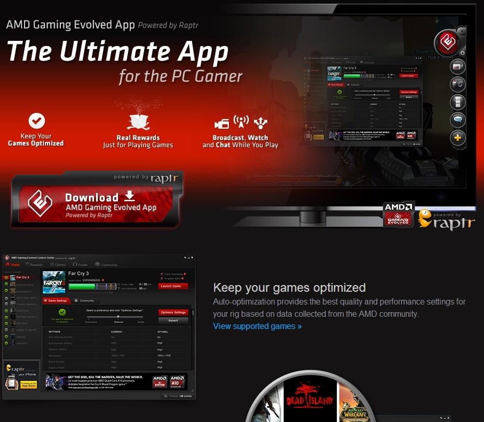 amd gaming app
