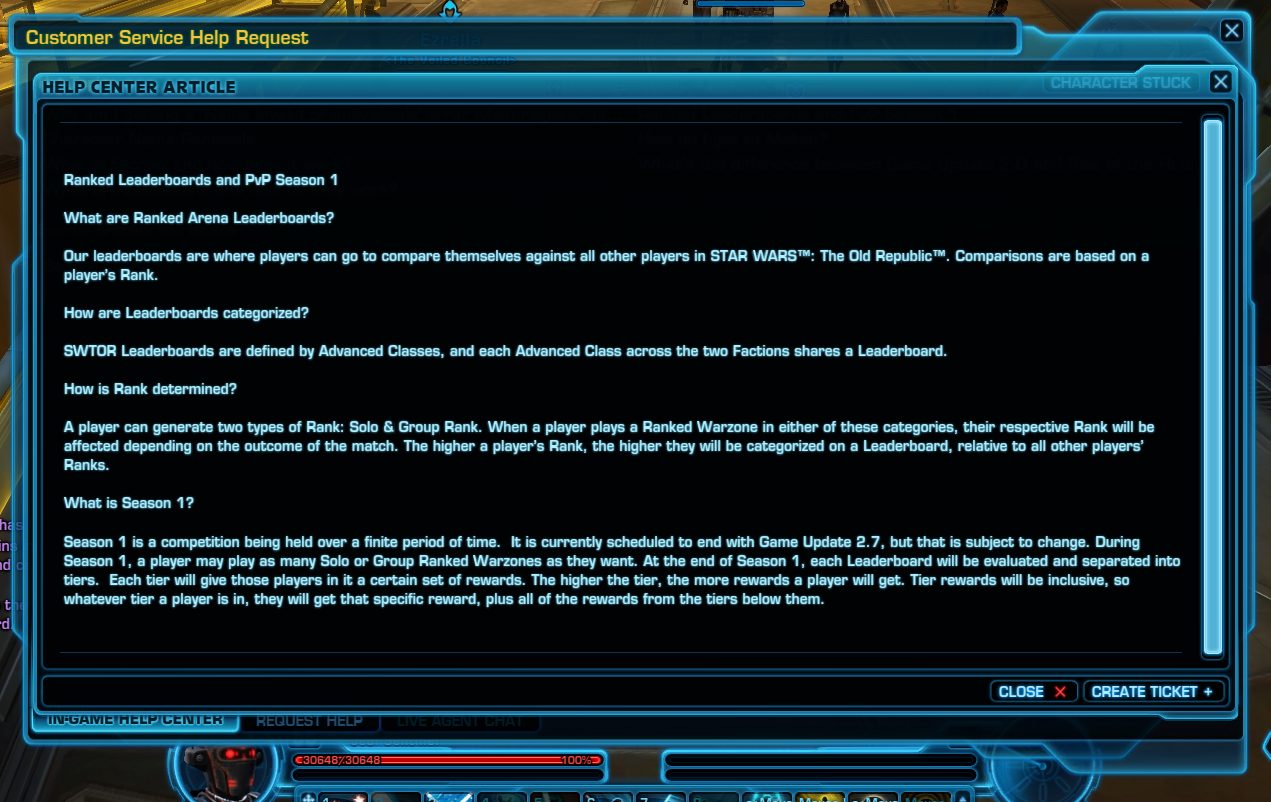 swtor ranked warzones