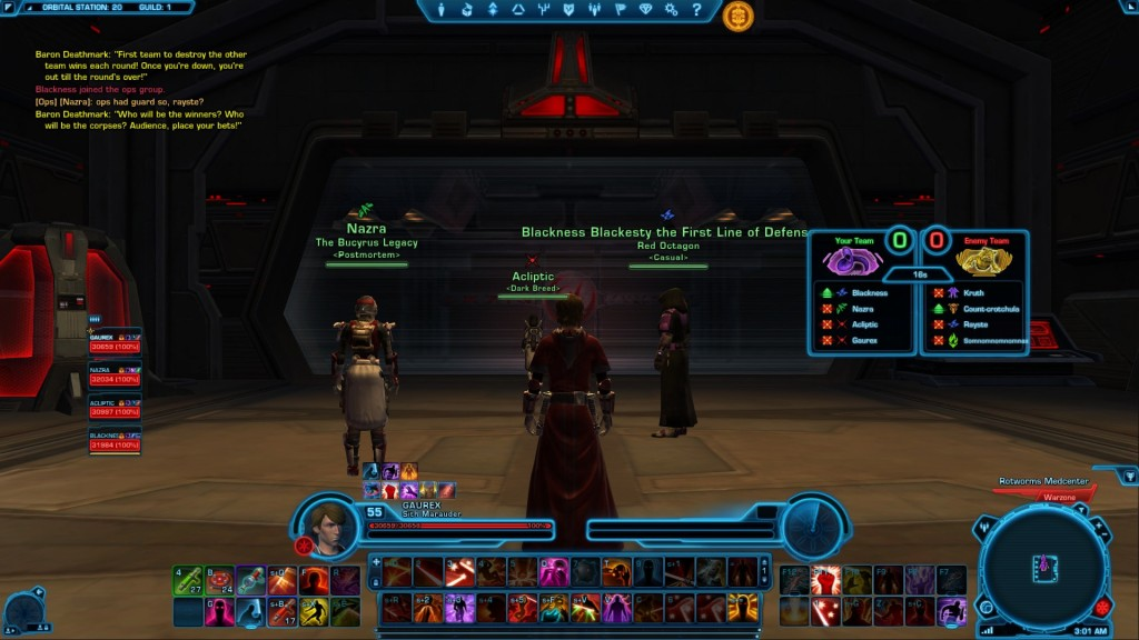 swtor arena match making
