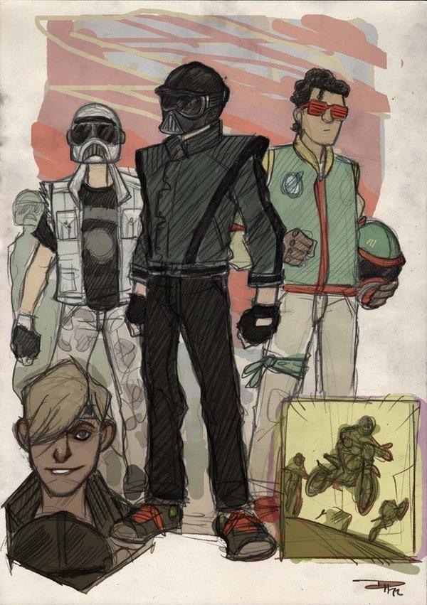 Vader,Boba Fett & Troopers