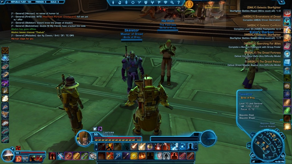 swtor I found He-man and Skeletor on the fleet