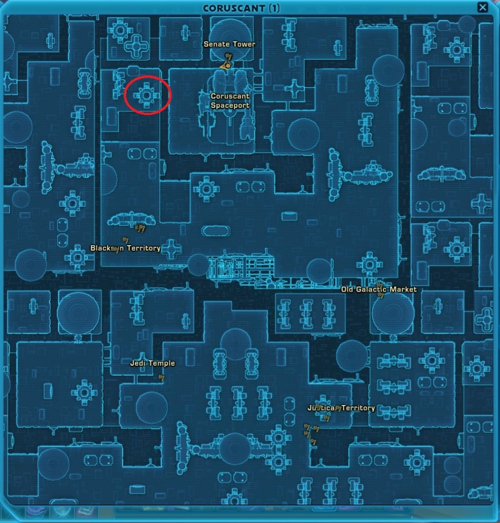 swtor Housing Location on Coruscant 2