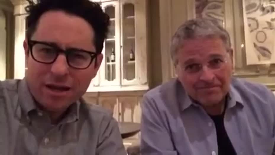 Greeting from J.J. Abrams and Lawrence Kasdan