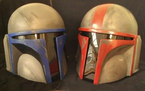 full size mandalorian death watch helmet