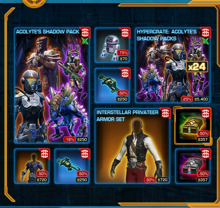 SWTOR CM Weekly Sales Jan 13- 20