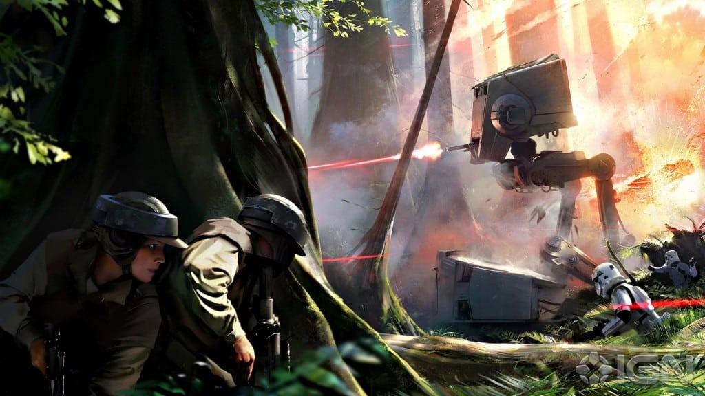 Star Wars Battlefront Endor Concept Art & Map Details