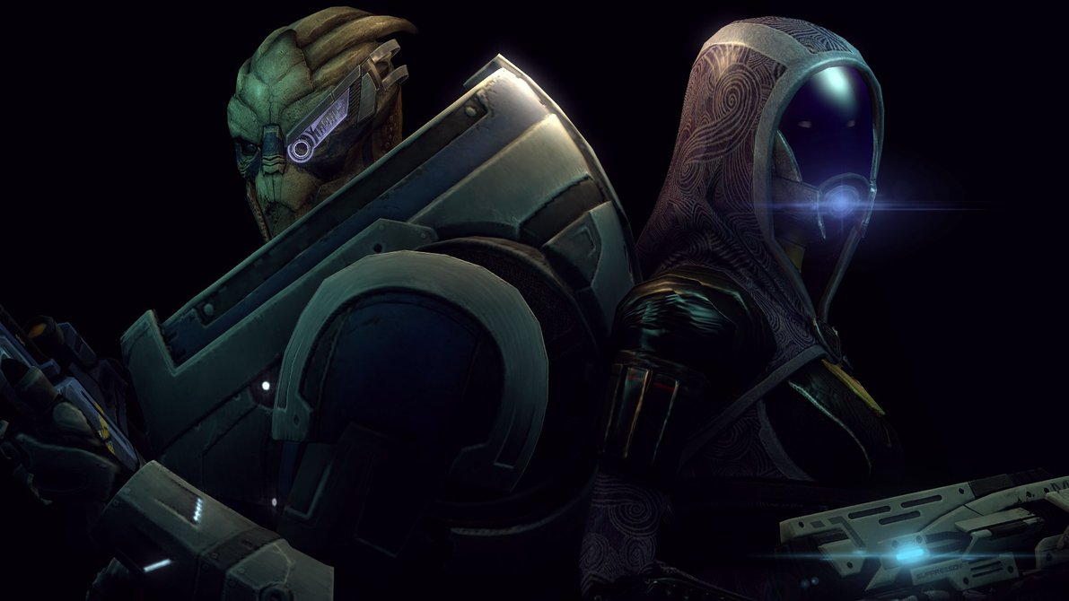 Tali and Garrus