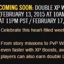 SWTOR : Double XP Weekend – 2/13 – 2/16