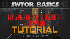 SWTOR Basics - F2P vs ALL