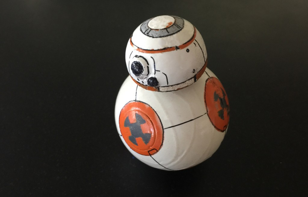 Star Wars BB-8 Droid Made from a Sphero and Magnets