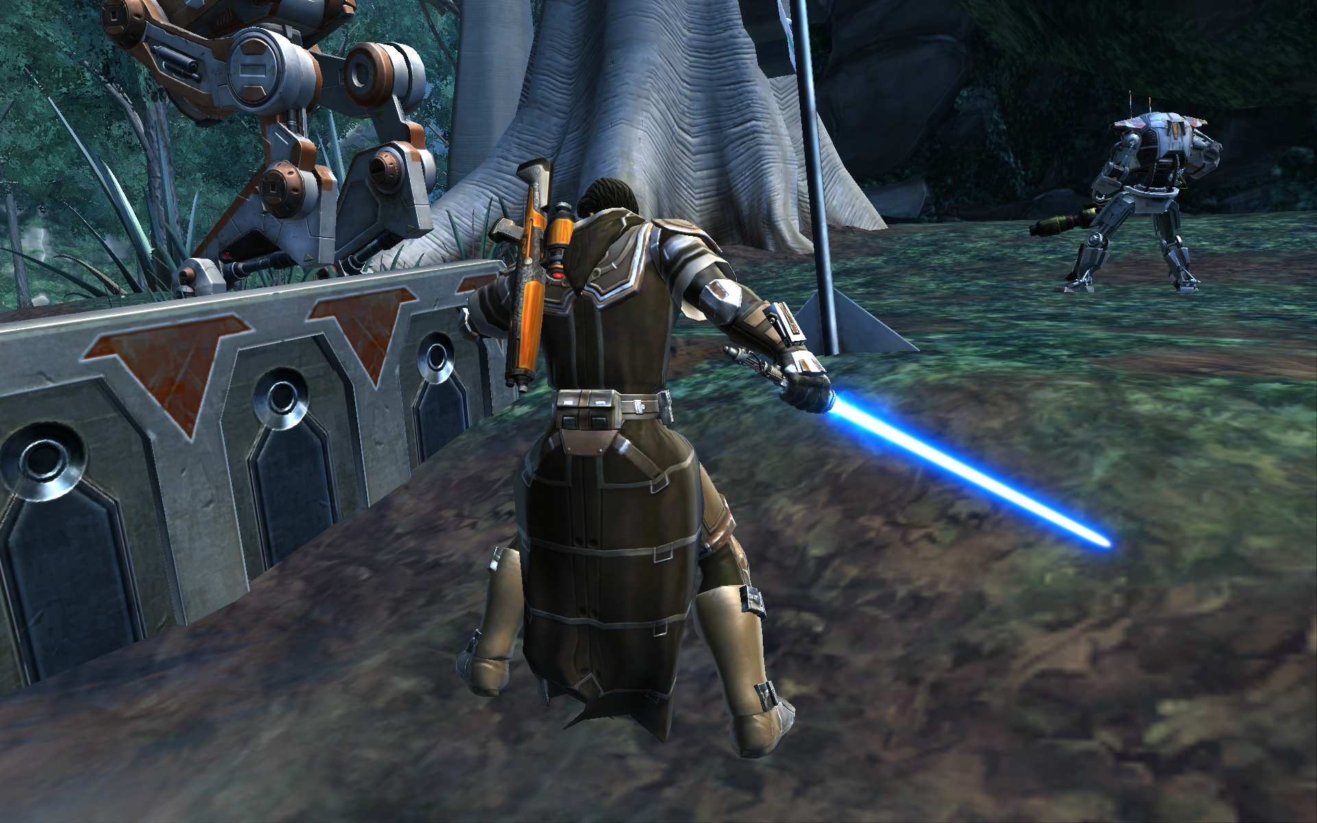 Jedi on Yavin IV have resorted to using uncivilized weapons it seems