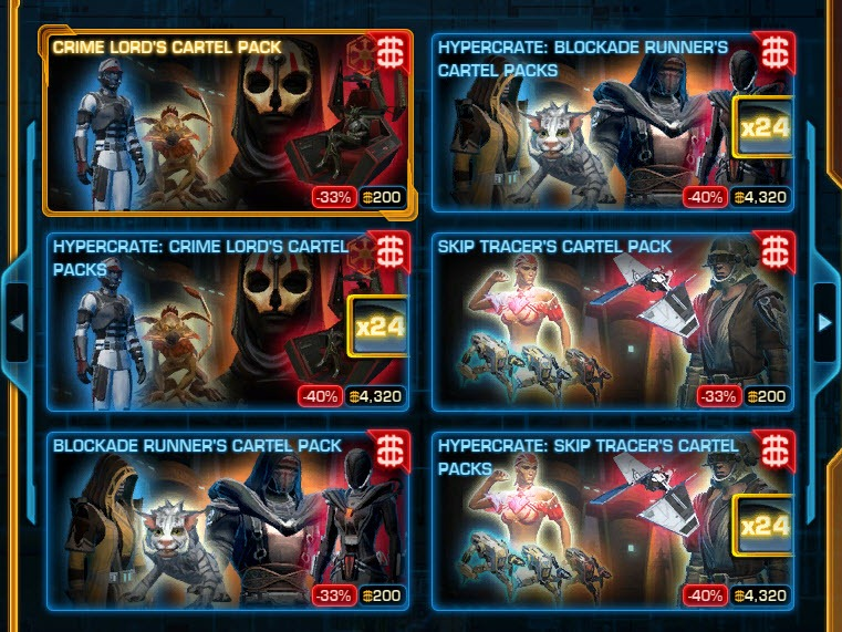 swtor cartel pacs