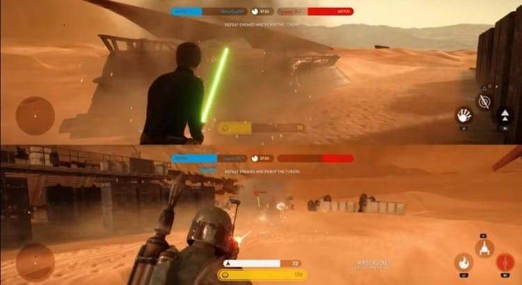 New Star Wars Battlefront heroes in acion