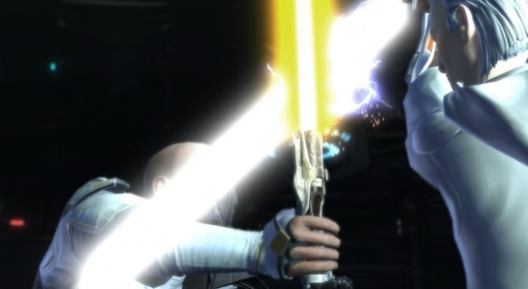 clash of lightsabers