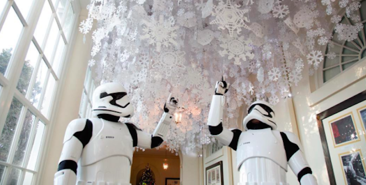 Stormtroopers and R2D2 Visit the White House
