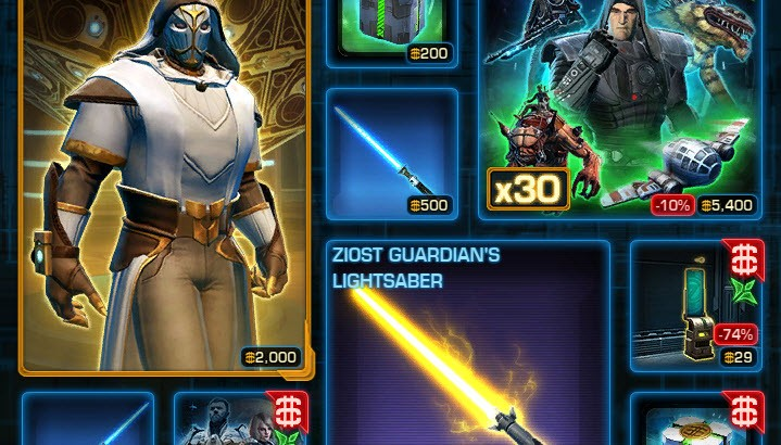 Changes to the Cartel Market — Tuesday January 26     - SWTOR