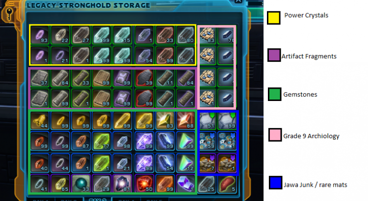 Items stack limit raised to 9999 with SWTOR Patch 4_1