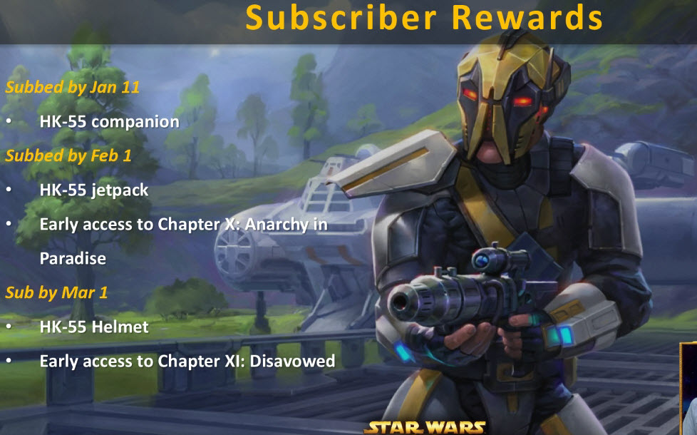 swtor March Subscriber Reward