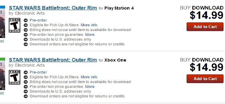 Outer Rim DLC Price and Release Date