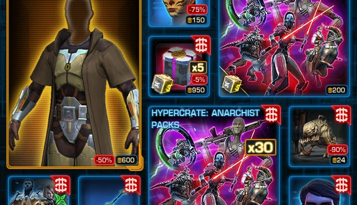 SWTOR CM Weekly Sales March 1 – 8