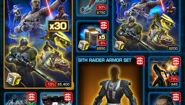 SWTOR CM Weekly Sales March 15 – 22