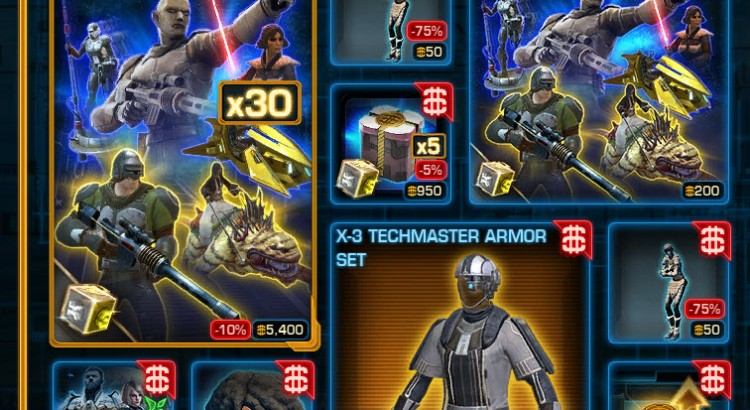 SWTOR CM Weekly Sales March 8 – 15