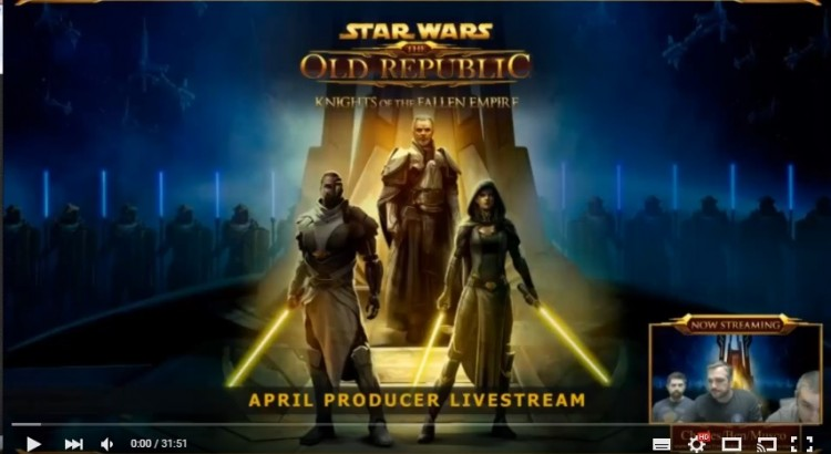 SWTOR April's Producer Livestream