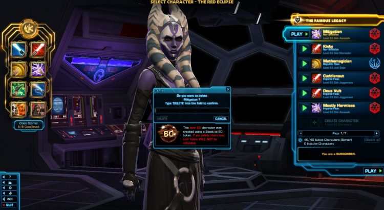 SWTOR Complimentary Server Transfers