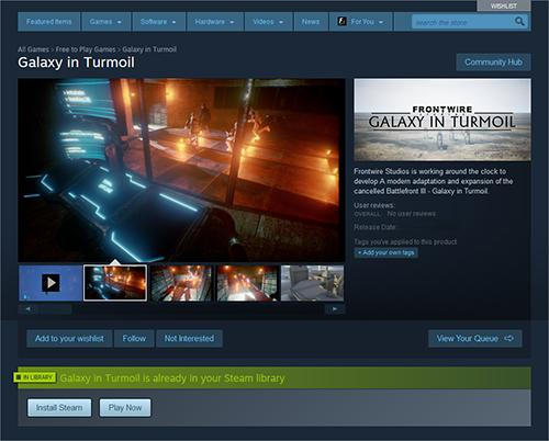 Frontwire, the developer behind the upcoming Star Wars Battlefront III remake, Galaxy in Turmoil, has revealed that Valve has agreed to distribute the game on Steam.