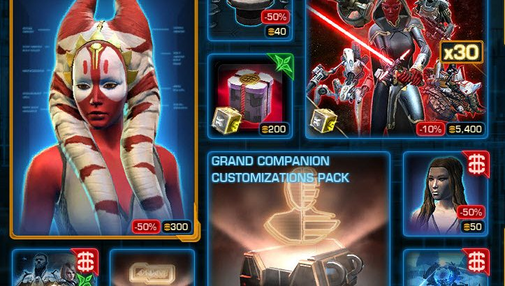 SWTOR CM Weekly Sales June 21 – 28