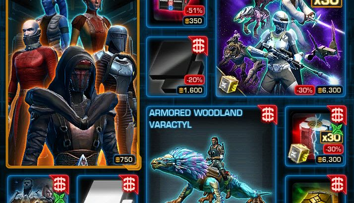 SWTOR Galactic Legends Armor Pack and Black and White Modules Available