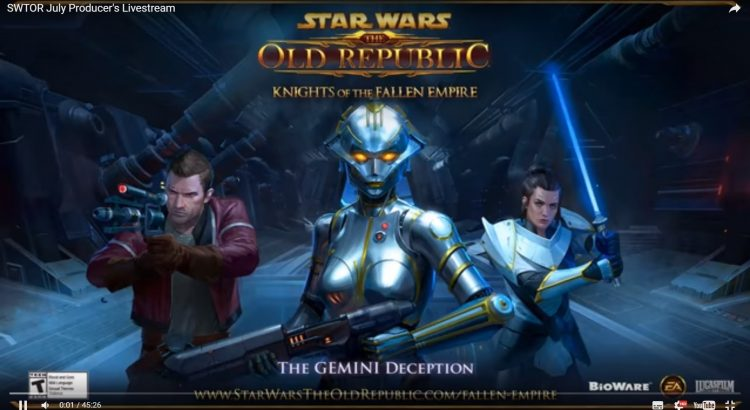 SWTOR July Producer's Livestream Coverage
