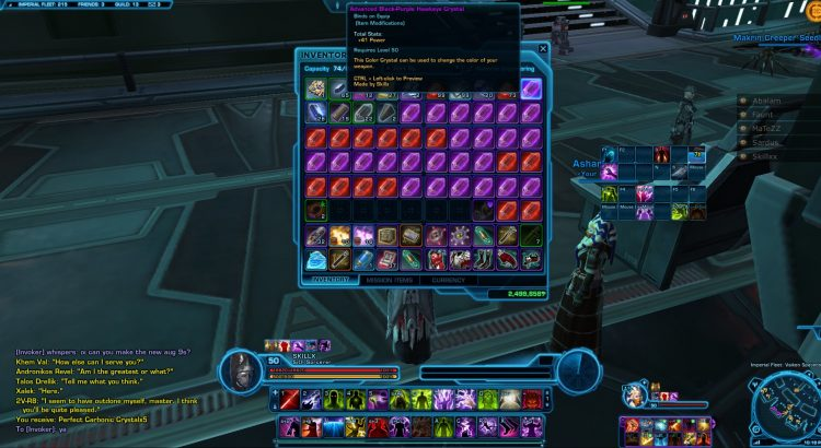 swtor crafting in eternal throne