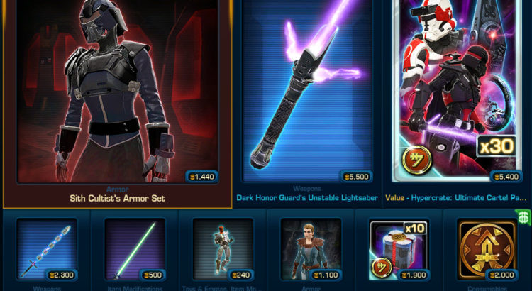 Changes to the Cartel Market -- Tuesday March 27 2018