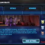 Star Wars Galaxy of Heroes: Checkup on the Sith Triumvirate Raid
