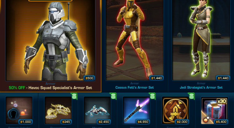 SWTOR Cartel Market Update for April 1