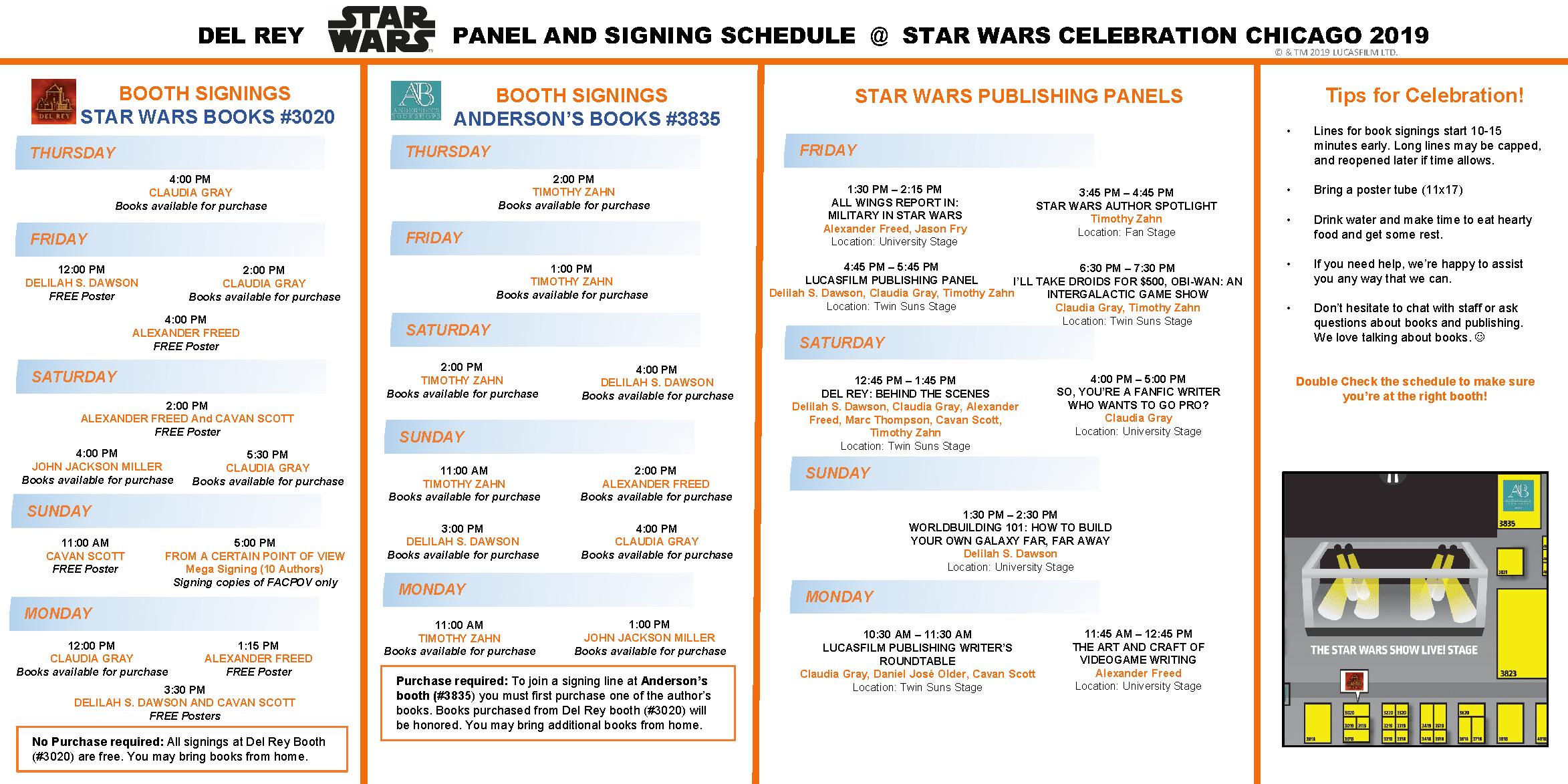 Star wars Celebration Schedule