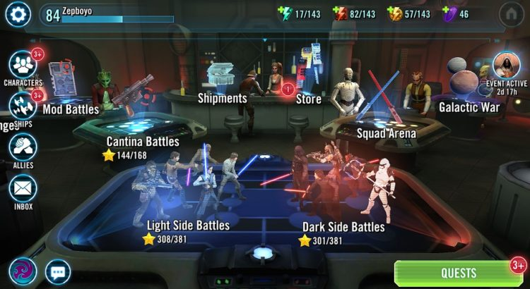 Star Wars Galaxy of Heroes: Event Calendar - August